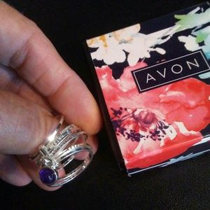 Purple Peace Ring & Bracelet Set by Avon